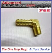 1/8NPT Thread 90 Degree 6mm Pipe Hose Bore Brass Manifold Adaptor Fuel Air Water